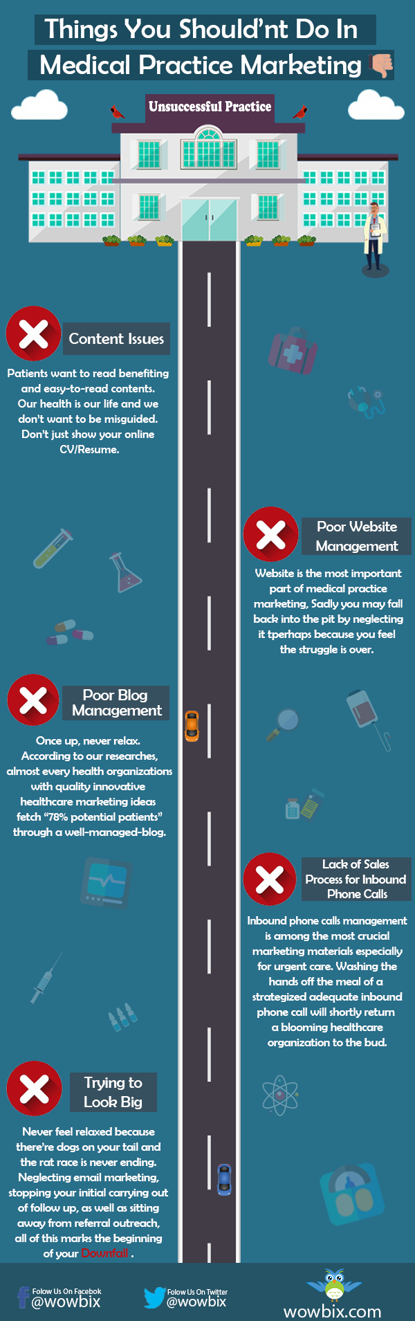 Infographics: Things you shouldn't do in medical practice marketing